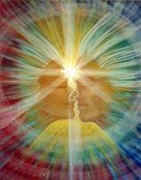 amanti della doppia fiamma che si collegano attraverso il chakra del terzo occhio